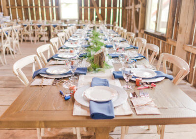 Farm Table Style at Twin Tails Event Farm on The Deep Creek Wedding