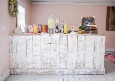 Brunch Bar at Twin Tails Event Farm on The Deep Creek Wedding