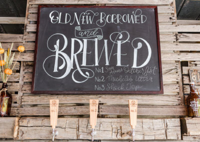 Old, New, Borrowed, Brewed at Twin Tails Event Farm on The Deep Creek Wedding