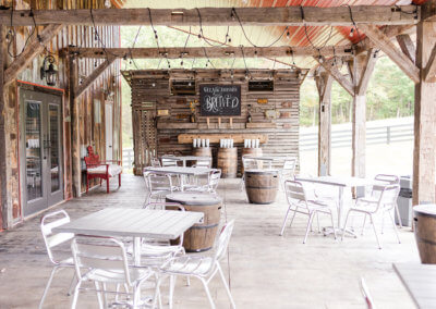 Outdoor Seating at Twin Tails Event Farm on The Deep Creek Wedding