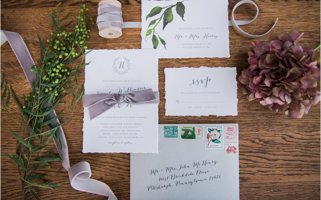 PLANNING YOUR WEDDING STATIONERY with Paper Hearts Invitations!