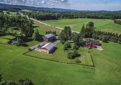 Aerial View of Twin Tails Event Farm on The Deep Creek Wedding